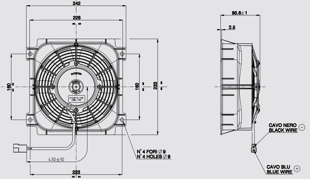 Spal VA81A-AP7/C-34S (190 мм)